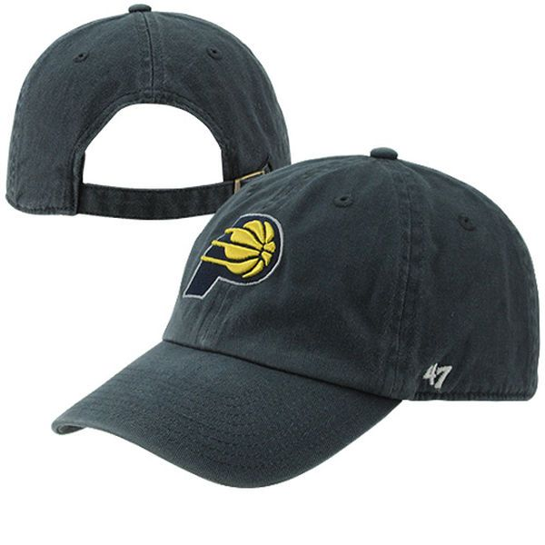 49b57b093019f Men s Indiana Pacers  47 Brand Navy Blue Clean-Up Adjustable Hat ...