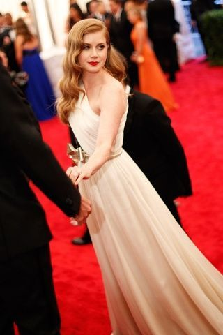 Wedding gown red carpet inspiration. Amy Adams at The MET Gala 2012 in a Giambattista Valli couture asymmetric gown <3