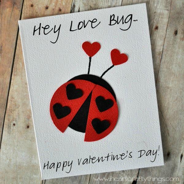 love bug valentine card  valentine card crafts valentine