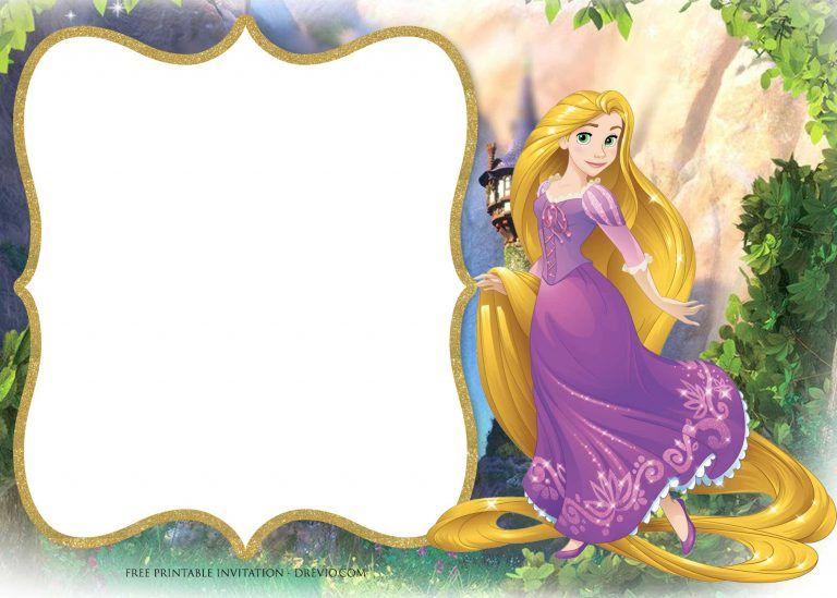 Free Printable Princess Rapunzel Invitation Templates Rapunzel Invitations Rapunzel Birthday Invitation Rapunzel Birthday Party