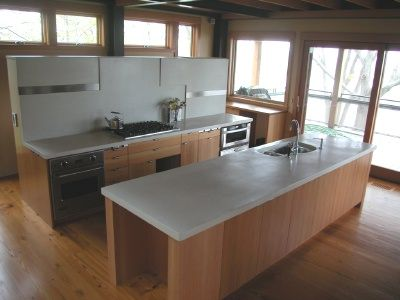 Finishing Concrete Countertops Can Be Done With A Hand Polisher And Diamond Pads Polished Concrete Kitchen Concrete Countertops Polished Concrete Countertops