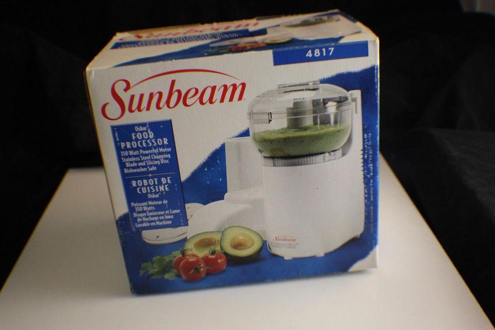 Sunbeam Oskar Food Processor 4817 Chopper Grater Mincer Mixer Bowl Blade Slicer #Sunbeam