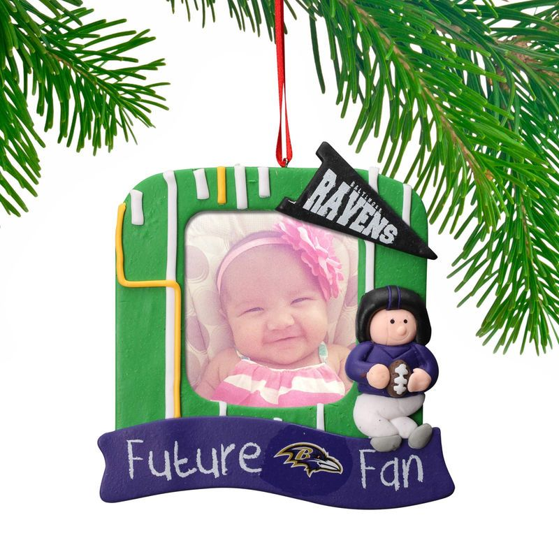 Baltimore Ravens Claydough Field Photo Frame Ornament