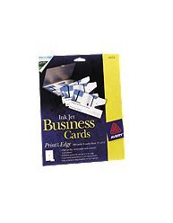 Ink Jet Print To The Edge Business Cards Glossy 200 25 Glossy Business Cards Business Cards Cards