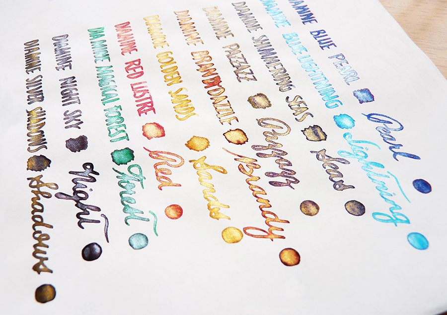 Diamine Shimmertastic inks Pen and paper, Fountain pens