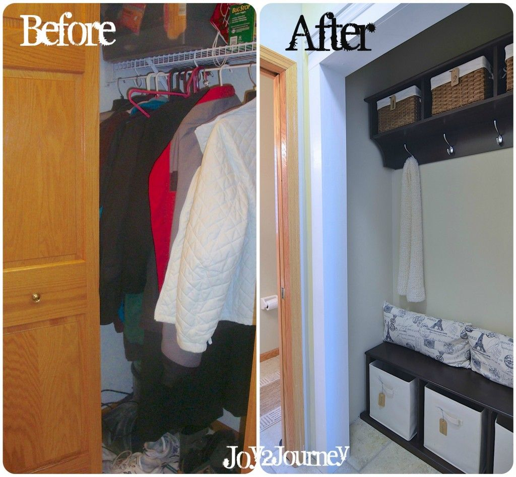 Mudroom Closet Organization Ideas Part - 21: Mudroom/Laundry Room Closet Before And After. Seating And Organization ...  Want