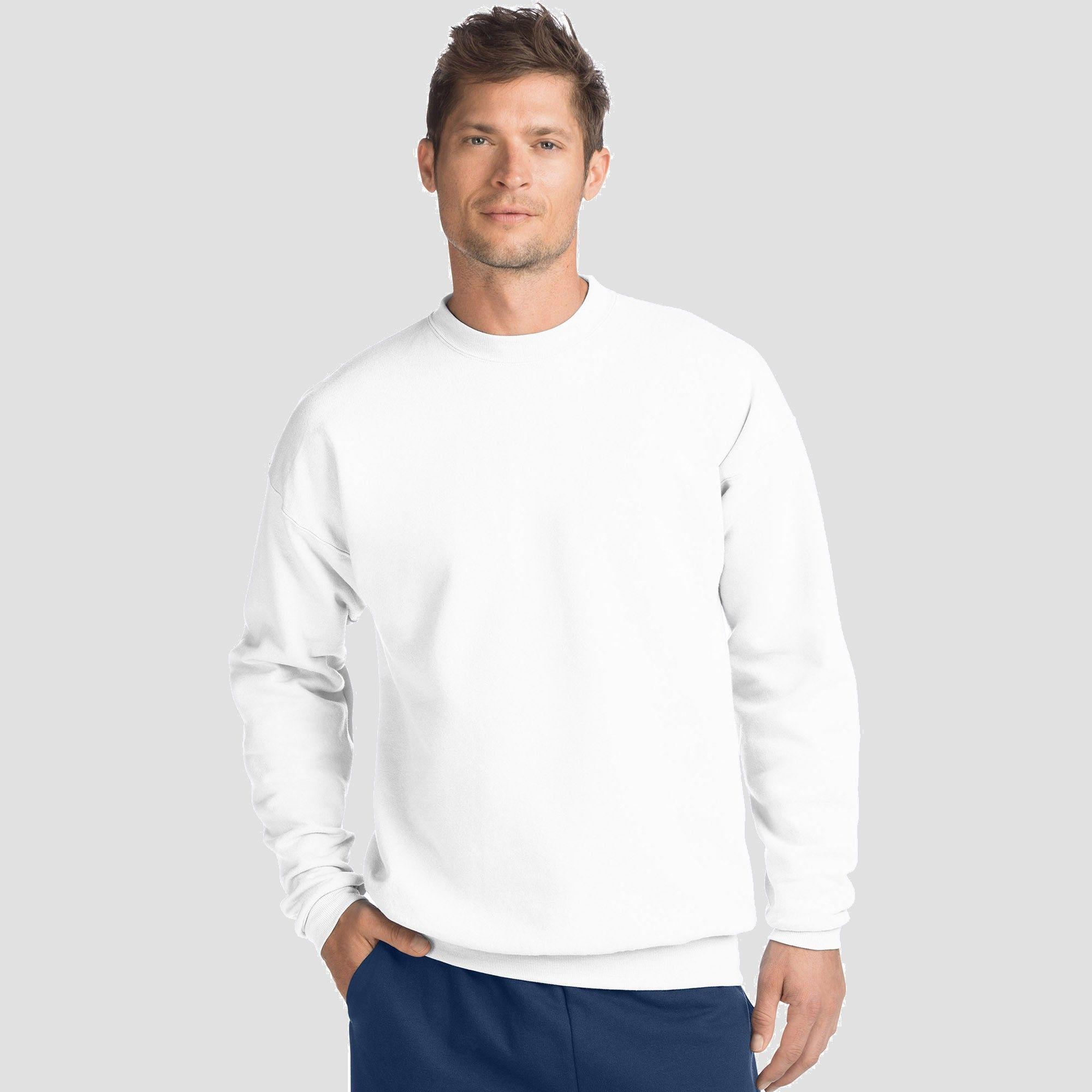 New Men/'s Hanes Comfortblend EcoSmart Crew Sweatshirt Long Sleeve Crewneck S-5XL