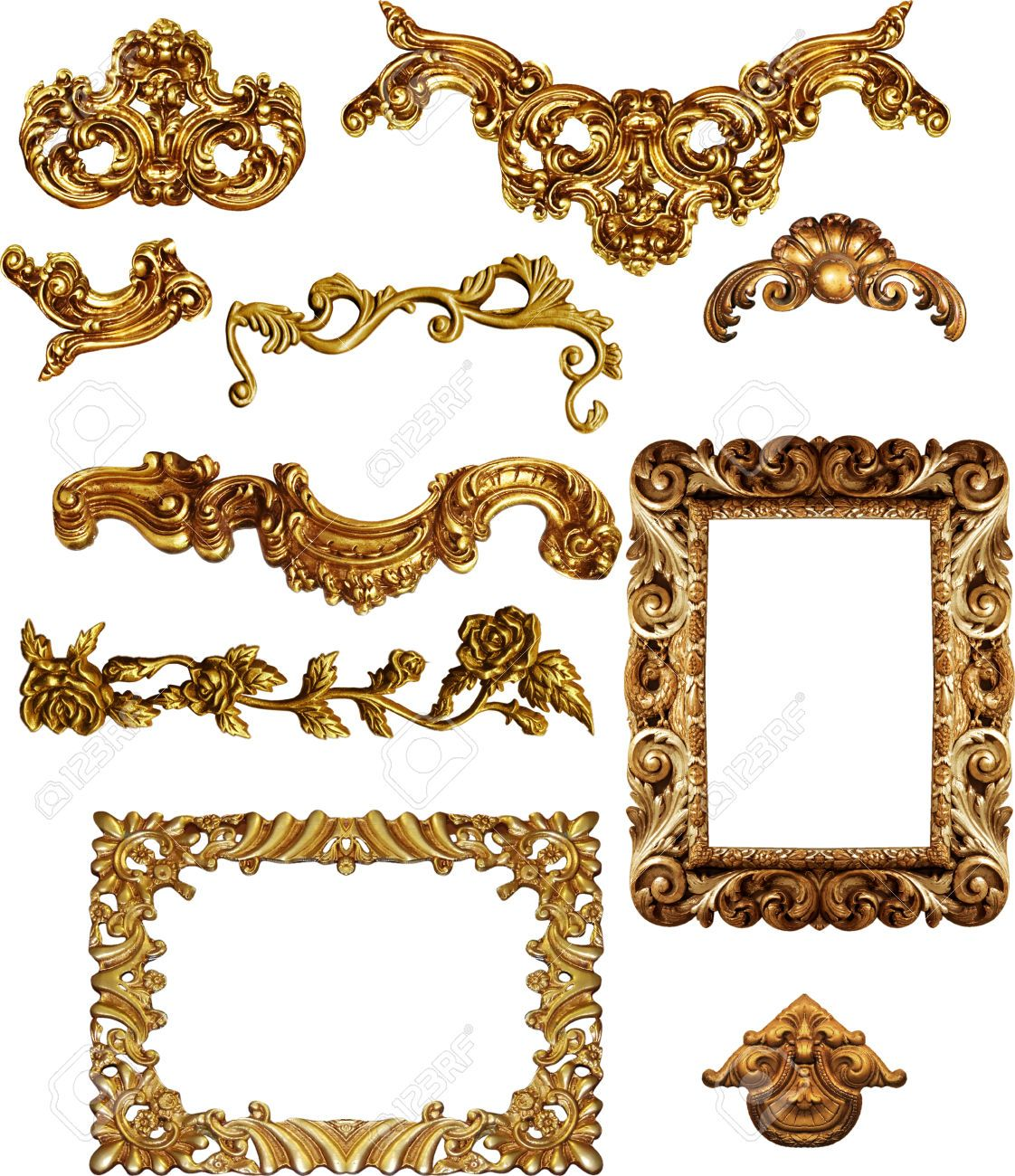 26172017 marcos de cuadros antiguos de oro conjunto de la - Marcos de cuadros vintage ...
