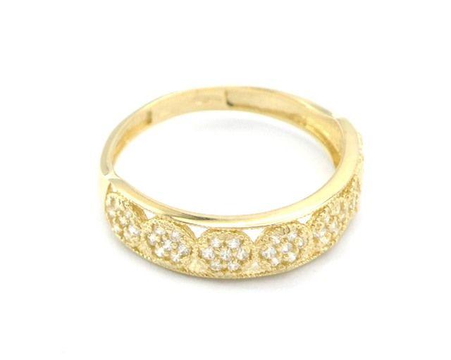 5baf505fc Zlatý dámský atypický prsten, zdobený zirkony. Levné nové zlato! Velmi  elegantní. Váha