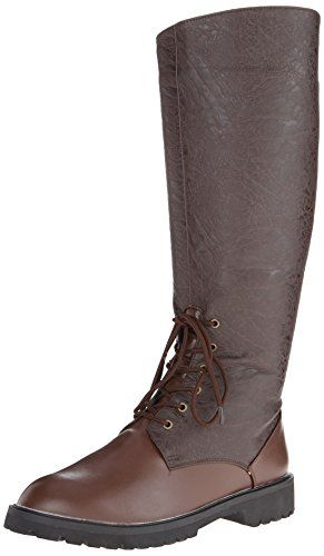 Funtasma Men's Gotham-103 Engineer Boot, Brown Polyurethane/Brown Distressed  Polyurethane, Large