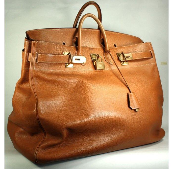 1b663a023e Hermès Vintage Gold Ardennes Leather 55cm Birkin Bag   Layaway Available