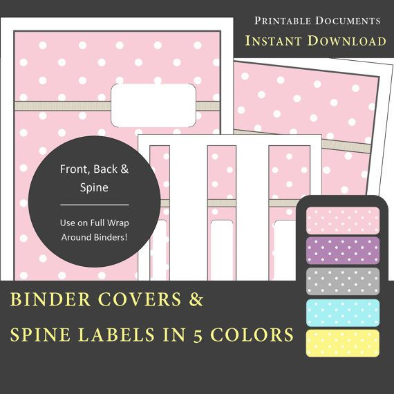 picture regarding Free Printable Binder Covers and Spines called Printable Binder Addresses Backbone Label Inserts inside 5 Hues