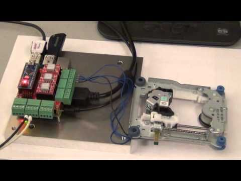 Raspberry Pi CNC Hat Controlled CDROM Stepper Motor - All | DVD