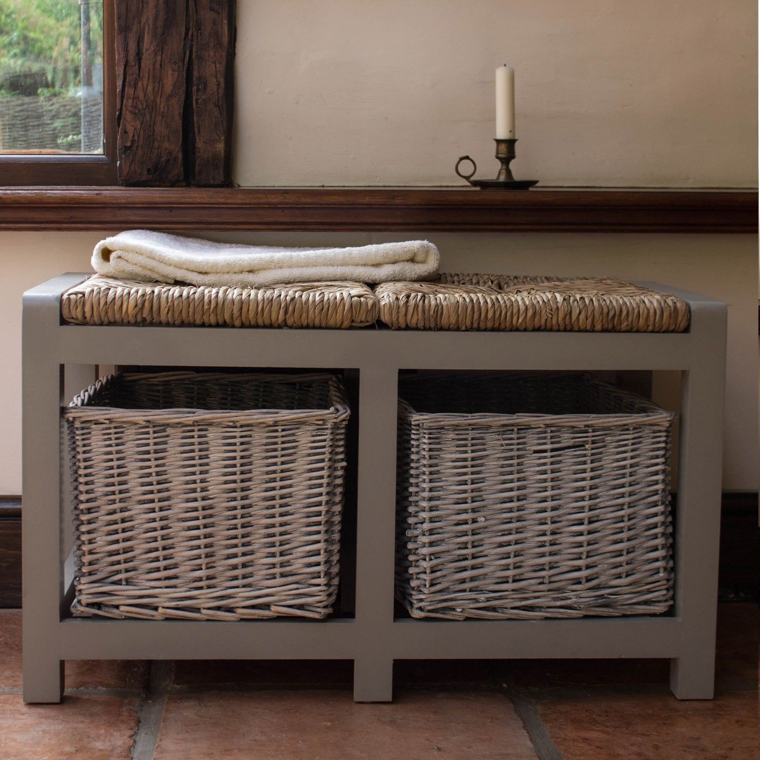 Country Style Hall Storage Bench Ideal Home Show Shop