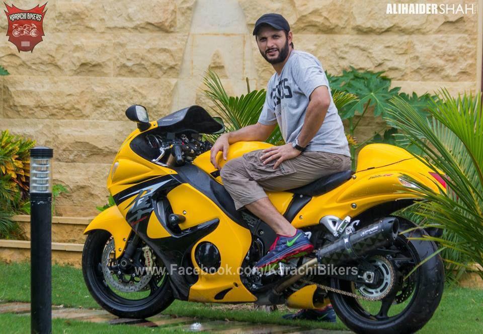 Boom Boom With His Suzuki Hayabusa Shahid Afridi Shahid