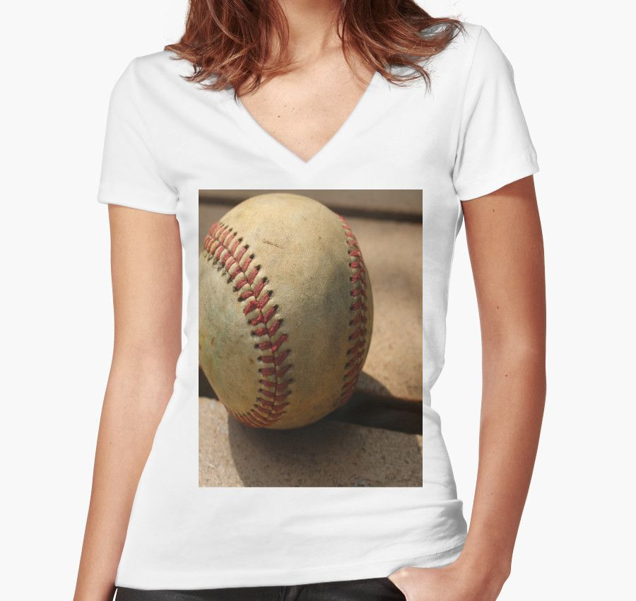 """Women's Fitted V-Neck T-Shirts of """"An American Game"""""""