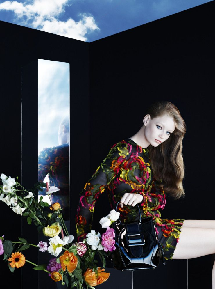 Hollie May Saker by Camilla Akrans for Blumarine Fall Winter 2015-2016 6