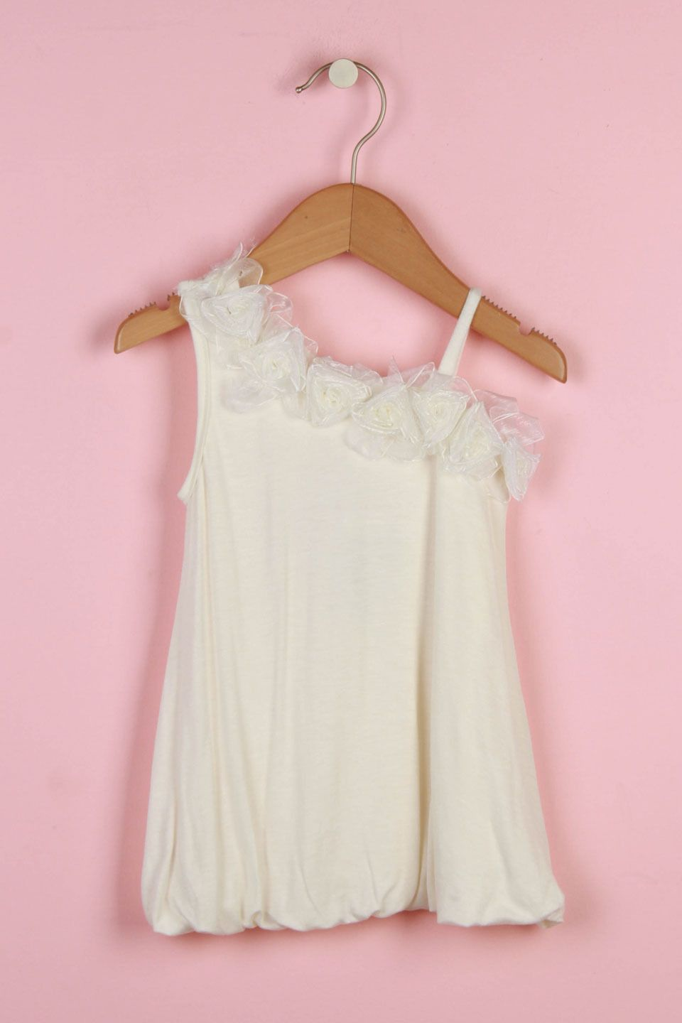 Paulinie collection girlsu knit bubble dress in ivory beyond the