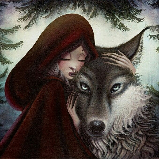 Her Trusting Heart Red Riding Hood Wolf Red Riding Hood Art Red Riding Hood