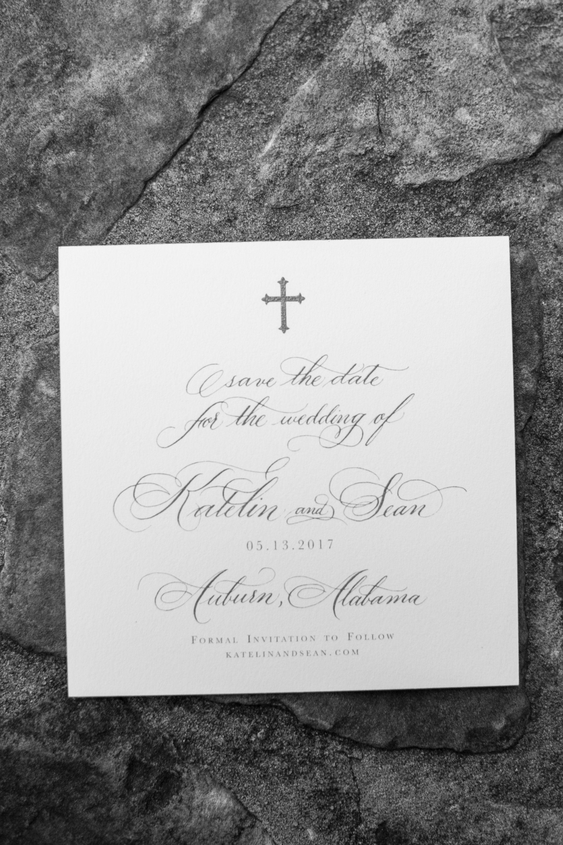 Wedding Invitation Calligraphy by Ashlyn Writes Atlanta