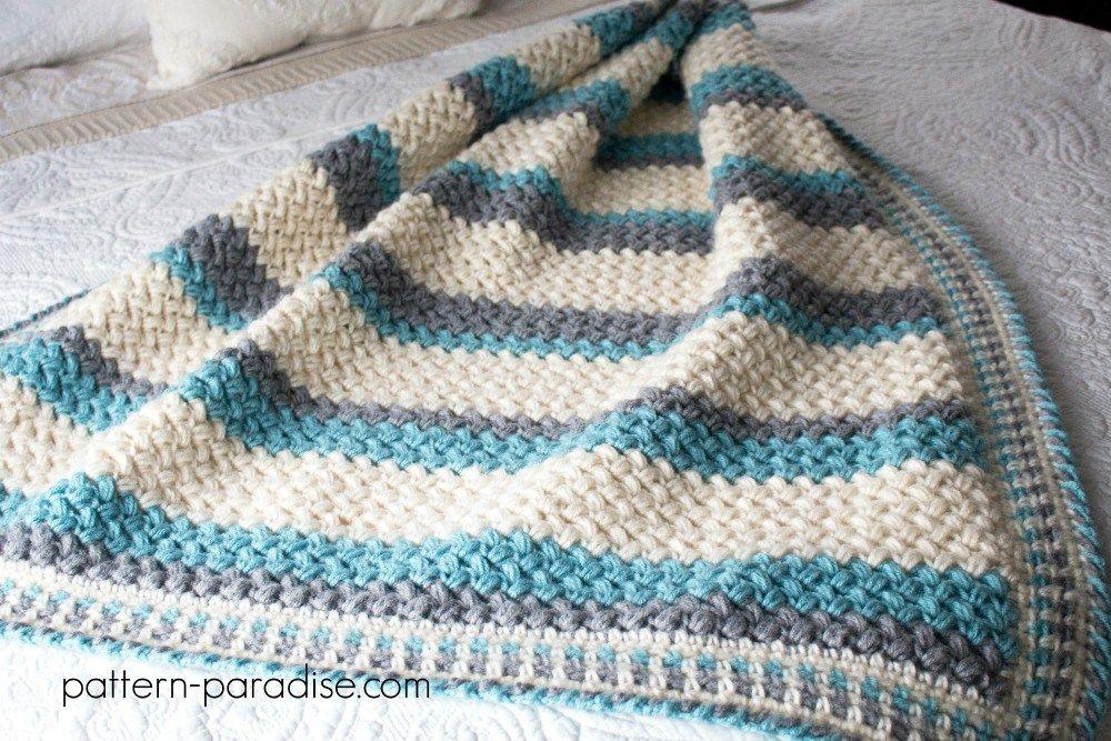 Free Crochet Pattern: Pillow Soft Throw Blanket   Pinterest