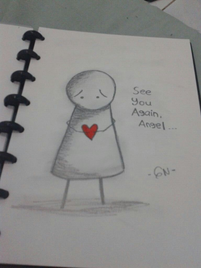Missing you is my daily activity angel ♥ sketches pencil draw sketch gnsketch guardianangel brother missing
