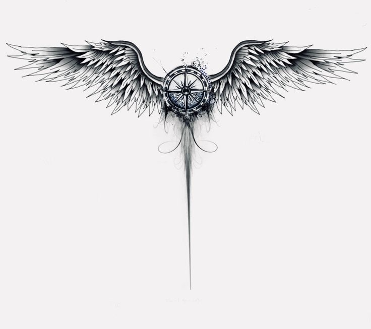 Compass angel wings    Uncategorized is part of Tattoos -