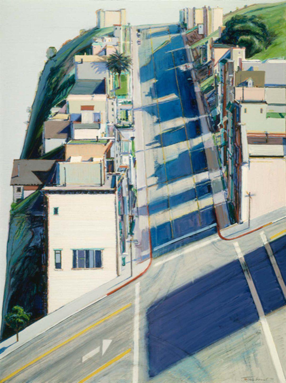 Ripley RidgeWayne Thiebaud, 1977. Oil on canvas, 48 × 36