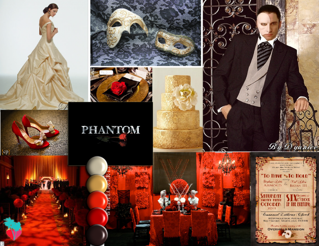 Phantom of the Opera Wedding Theme | Wedding fever | Pinterest ...