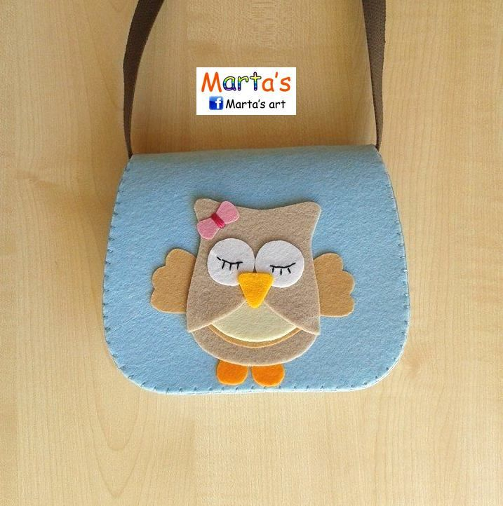felt owl bag for girls