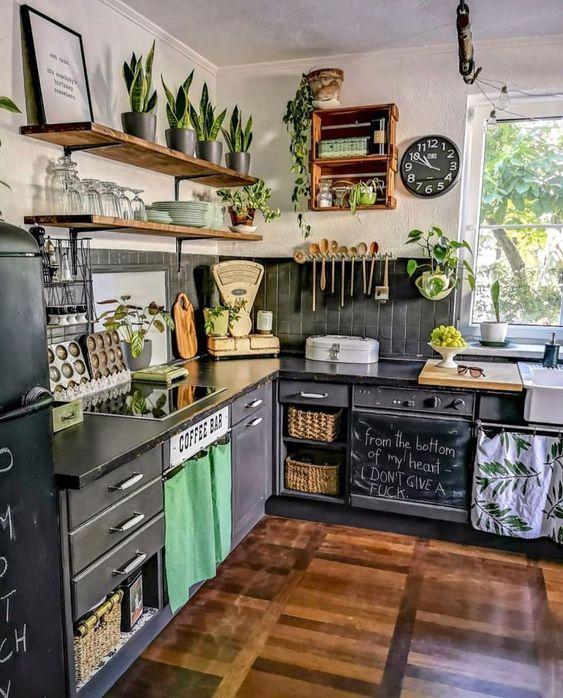 35+ Boho Kitchen Decor Ideas for House or Apartment | momooze.com