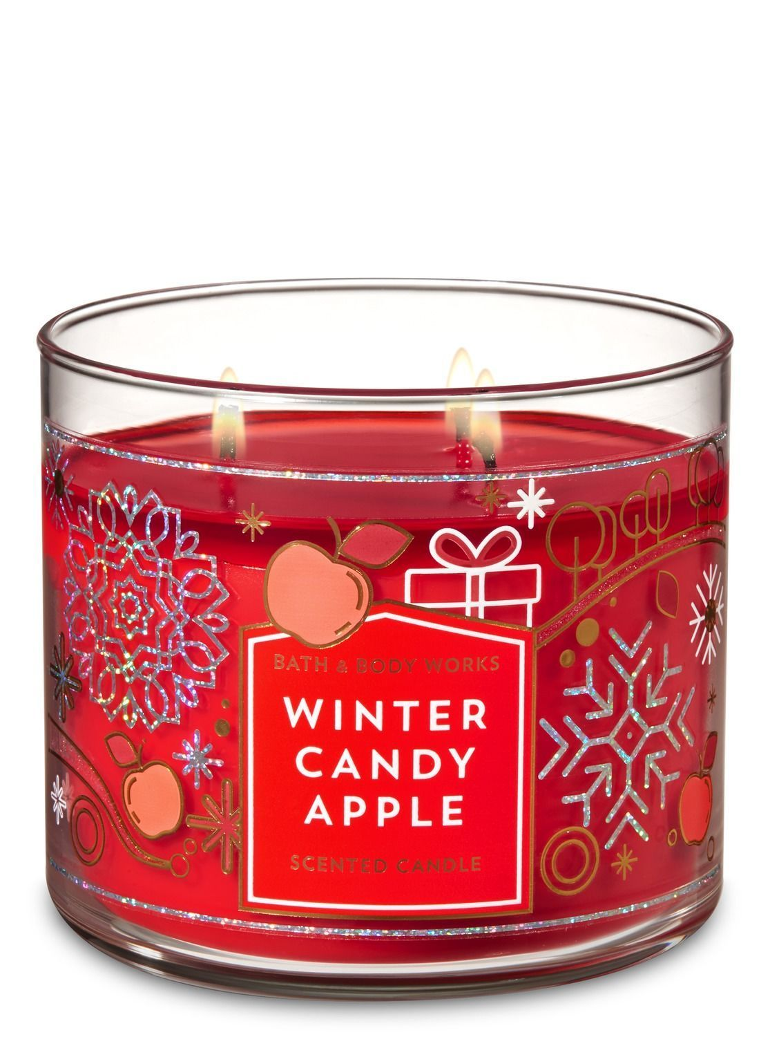 3 Wick Scented Candles Winter Candy Apple 3 Wick Candle By Bath