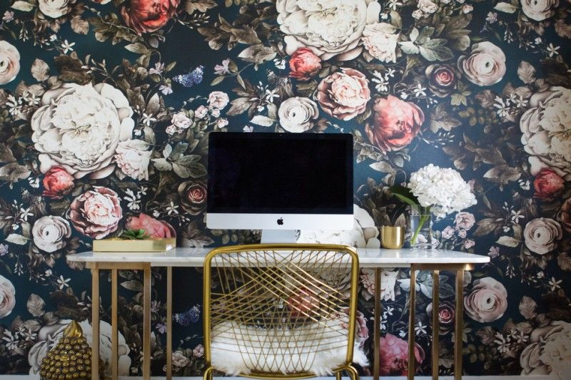 Admirable Office Wallpaper Ideas To Take A Look At Office Wallpaper Floral Print Wallpaper Quality Office Furniture