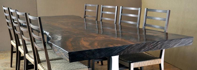 Natural Solid Walnut Wood Furniture. Top Quality Real Black Walnut