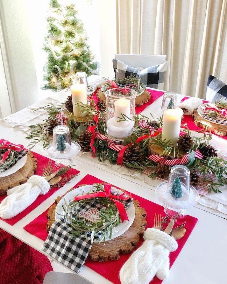 21 Festive Christmas Tablescape Decor Ideas Christmas Table Decorations Centerpiece Traditional Christmas Decorations Christmas Table Decorations