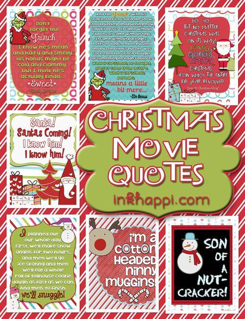 Christmas Movie Quotes! {free printables Christmas movie