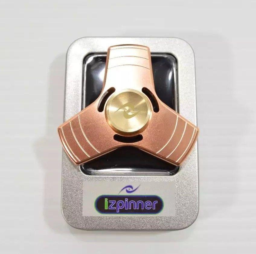 iZPINNER Copper Tri Spinner Fid Hand Toy Desk Coper Ceramic Fi