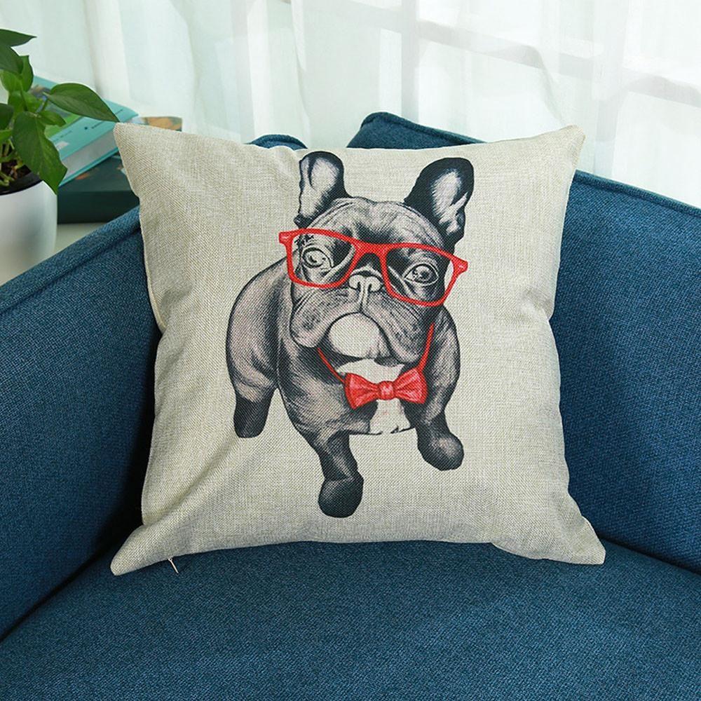 Print pillowcase linen cotton sofa cushion cover home decor