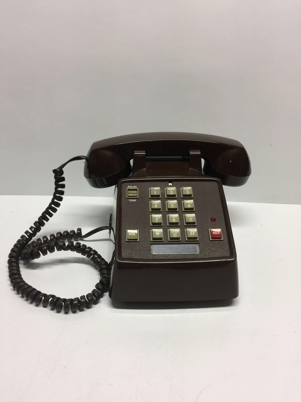 Vintage Telephone, Radio Shack Telephone, Dark Brown