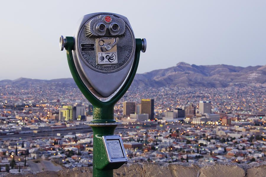 Coin Operated Binoculars And El Paso Skyline By Jeremy Woodhouse El Paso El Paso Texas Texas Views