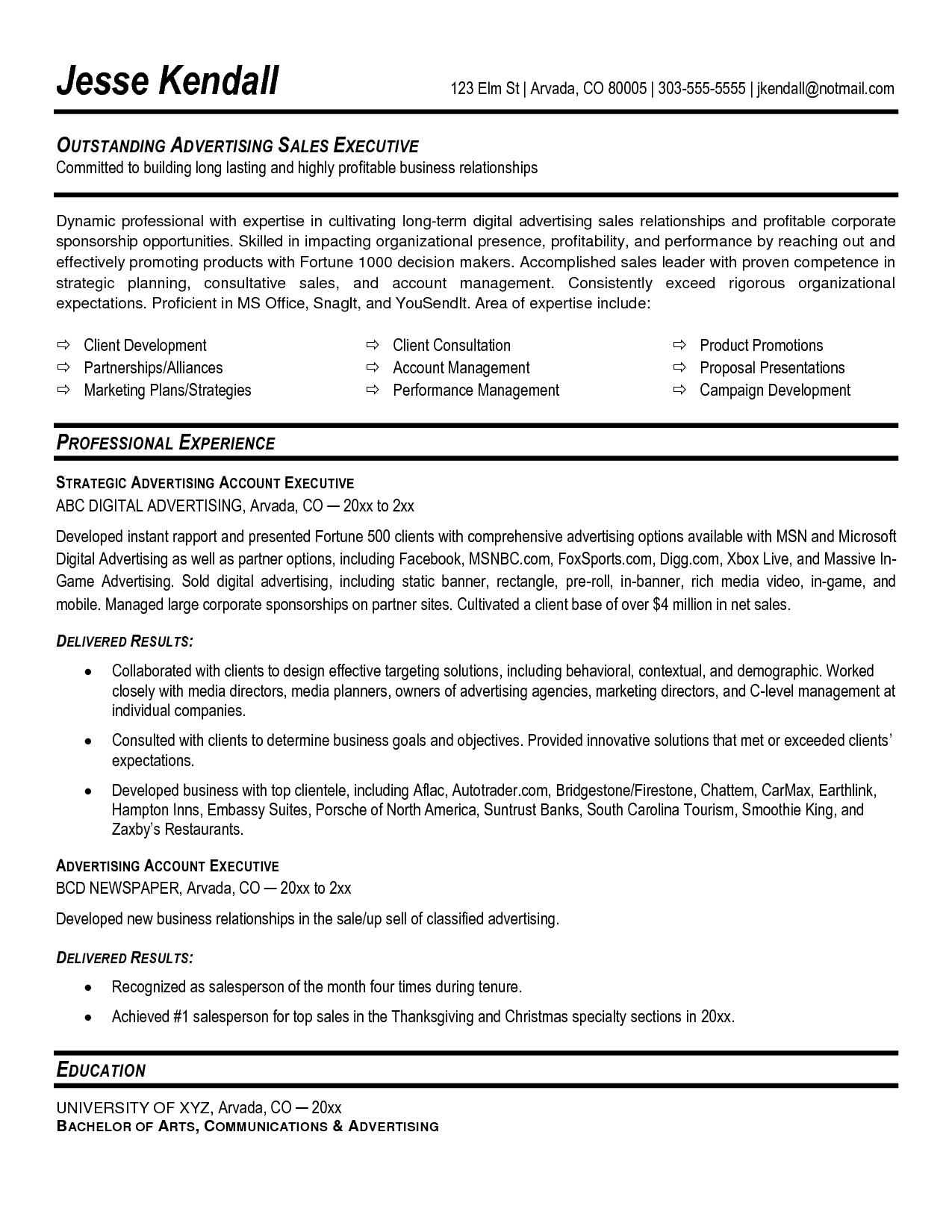 Excellent Resume Account Management Google Search Job