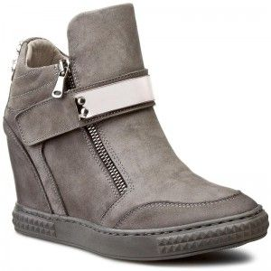 Damskie Szary Biker Boot Boots Shoes