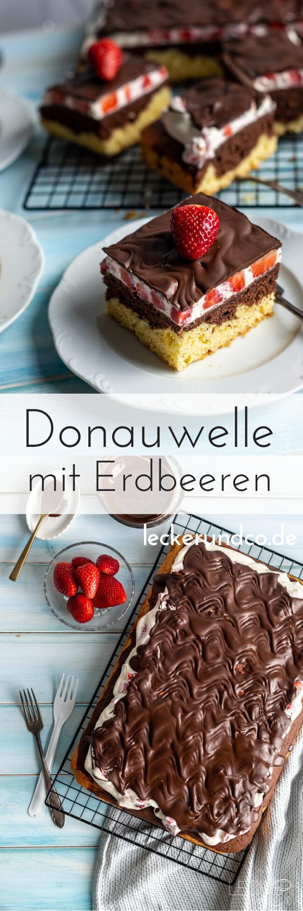 Donauwelle mit Erdbeeren | LECKER&Co