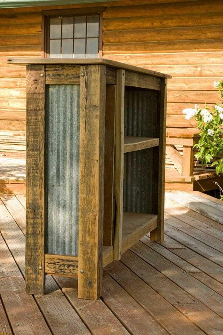 comptoir en tole et bois bar bar jardin mobilier de. Black Bedroom Furniture Sets. Home Design Ideas