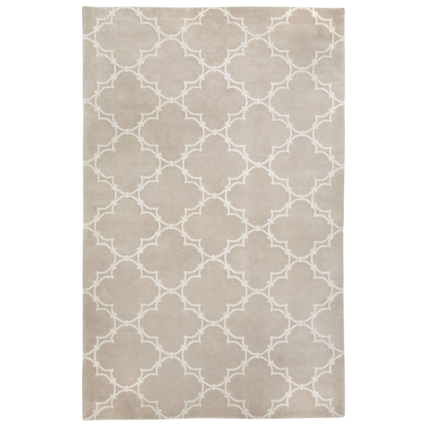 COCOCOZY Yale Champagne Hand Knotted Wool Rug via Layla Grayce