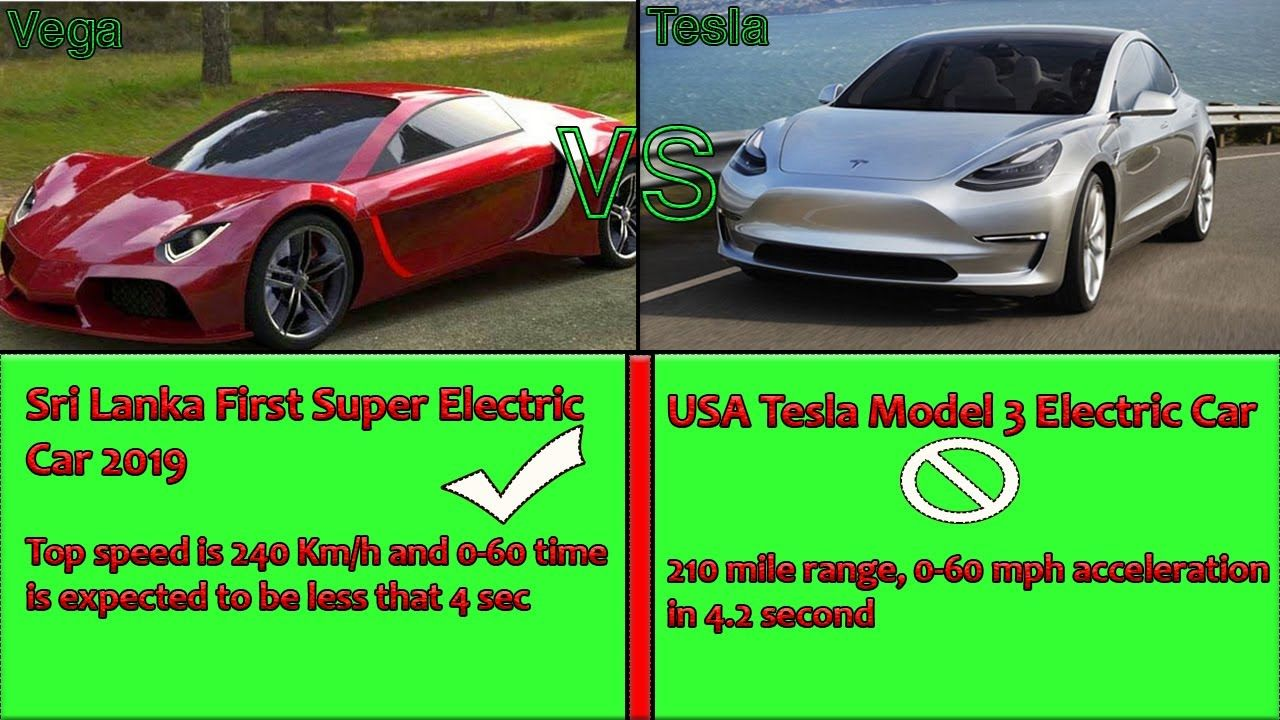 Tesla Vs Vega Sri Lanka First Electric Super Car 100 Made