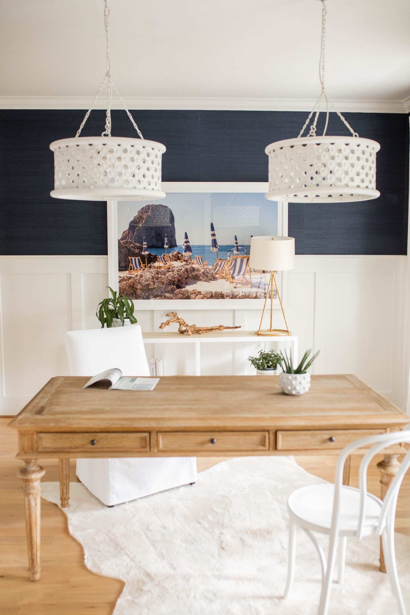4 Gray Malin Prints In Our Home in 2020   White round dining table, Home  decor, White home decor