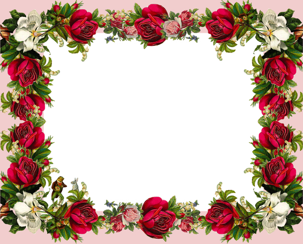 Latestphotoshopimages Rose Frame Flower Frame Rose Frame Flower Frame Png