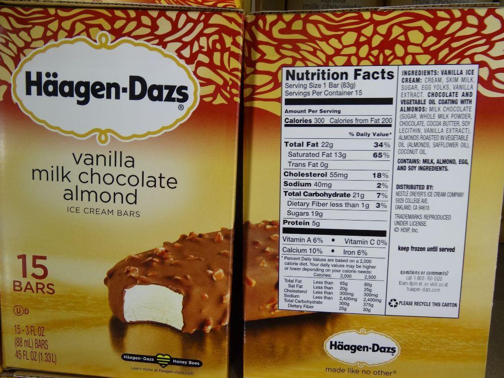 haagen dazs calories