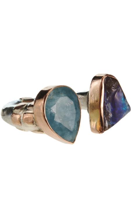 Sandra Dini Opal & Aquamarine Ring